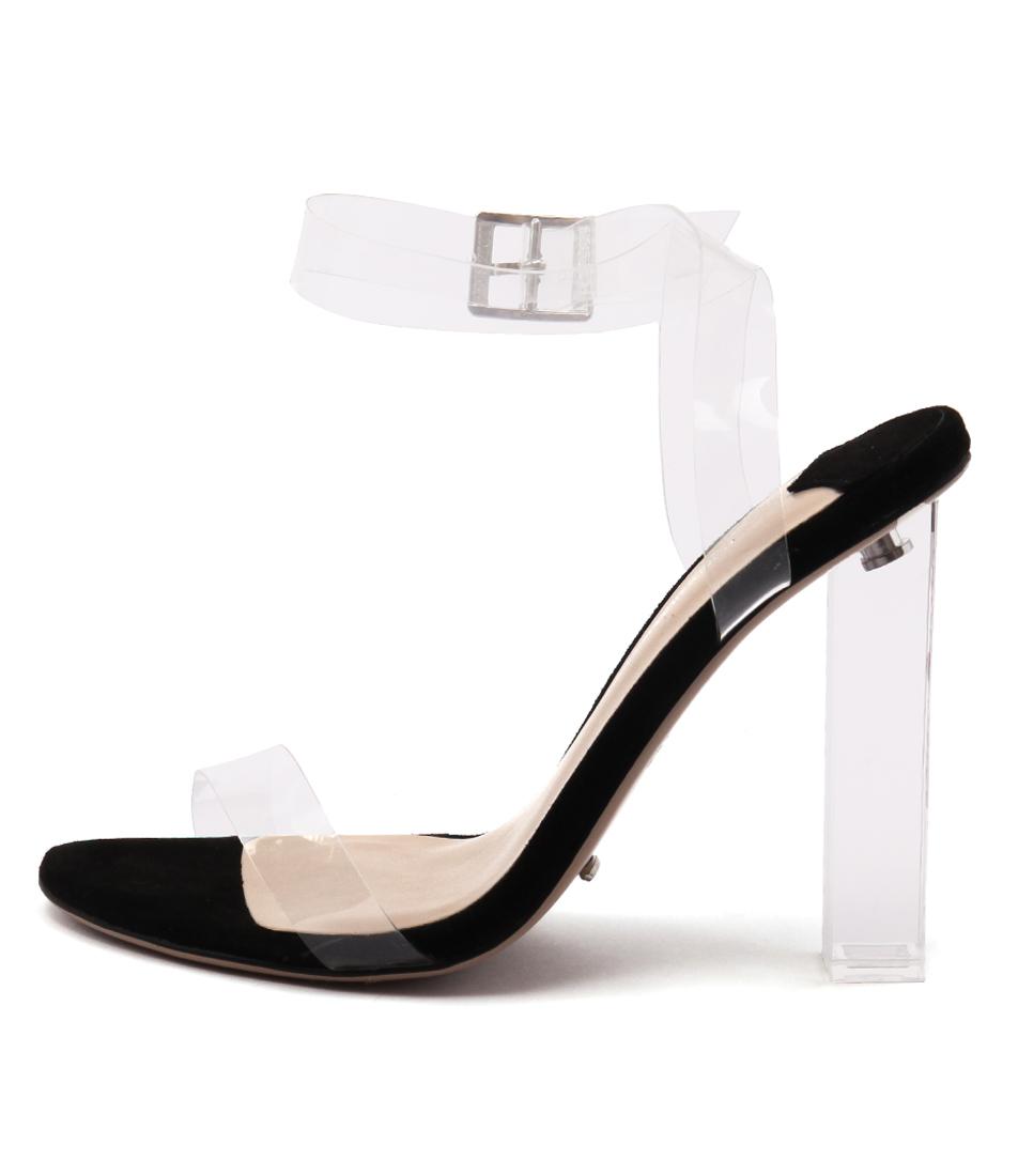 Tony Bianco Kiki Clear Black Sandals