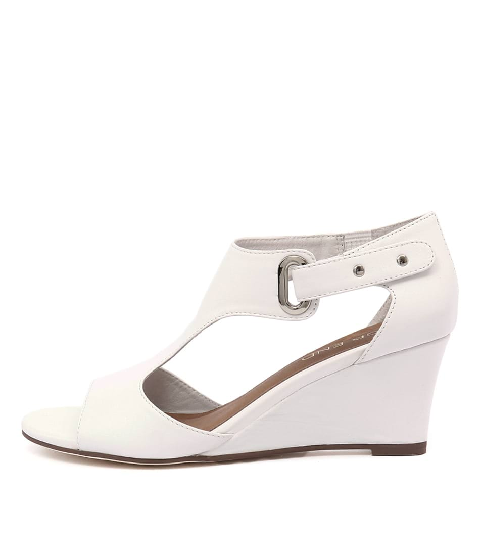 Top End Unico White Dress Heeled Sandals
