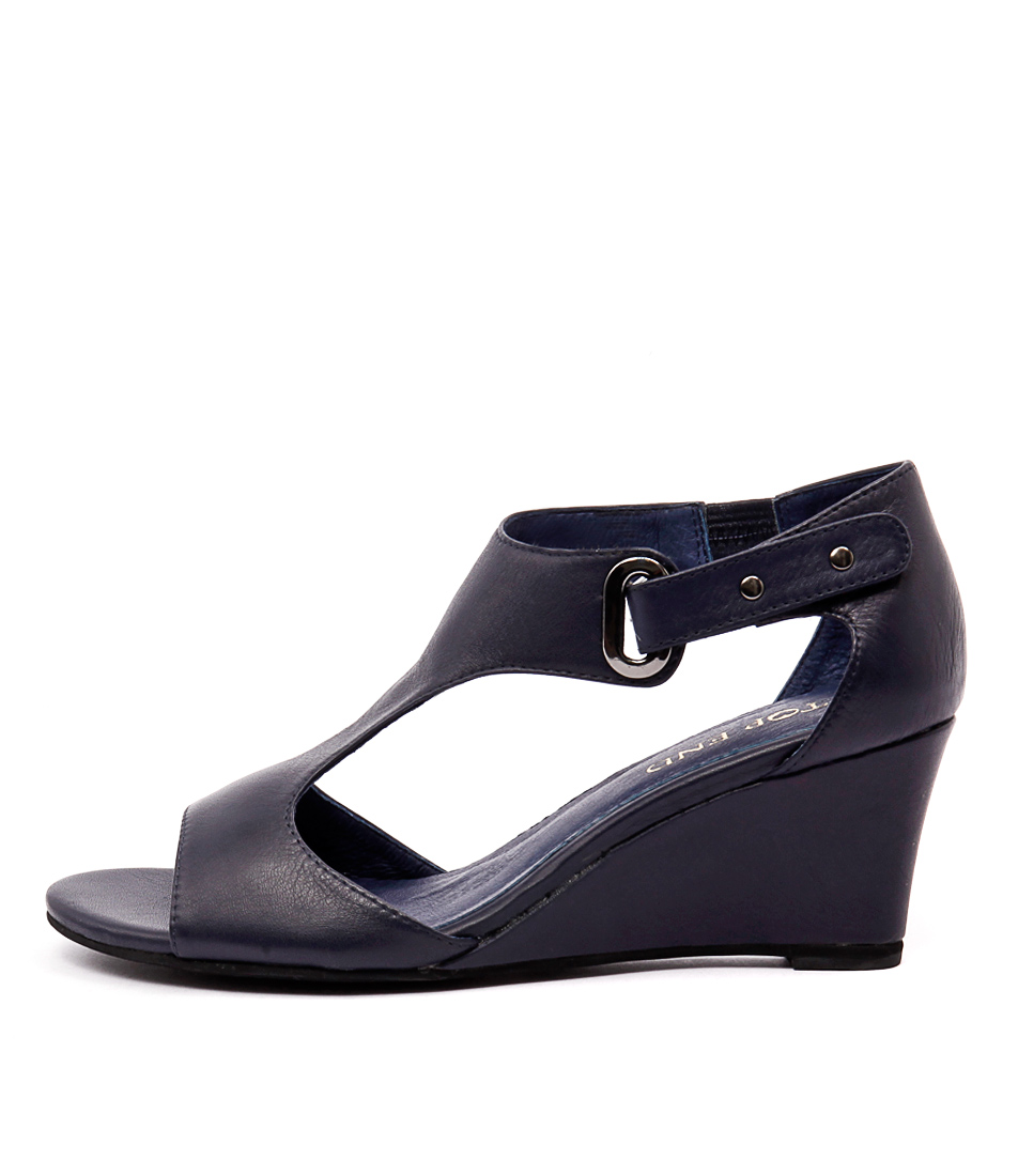 Top End Unico Navy Dress Heeled Sandals