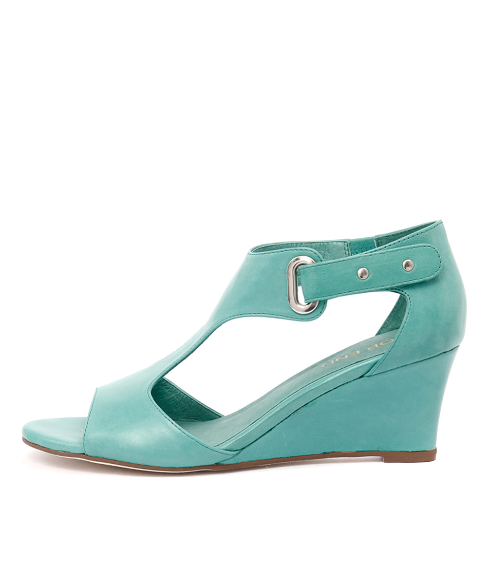 Top End Unico Green Dress Heeled Sandals