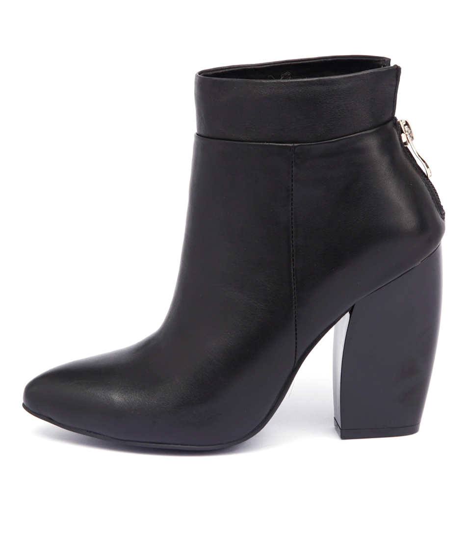 Top End Profit Black Ankle Boots