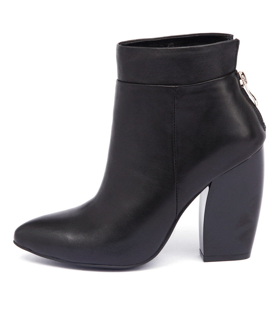 Top End Profit Black Boots Ankle Boots