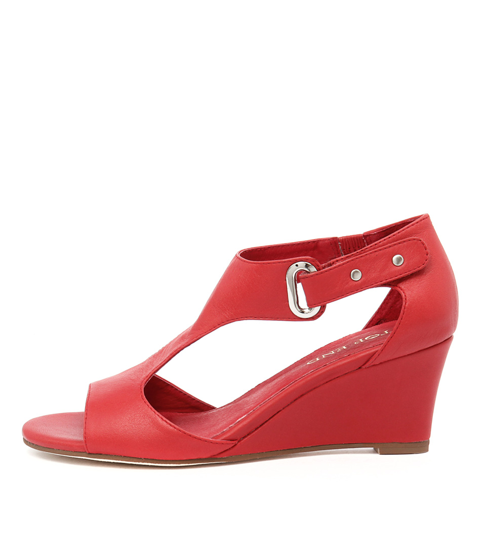 Top End Unico Red Dress Heeled Sandals
