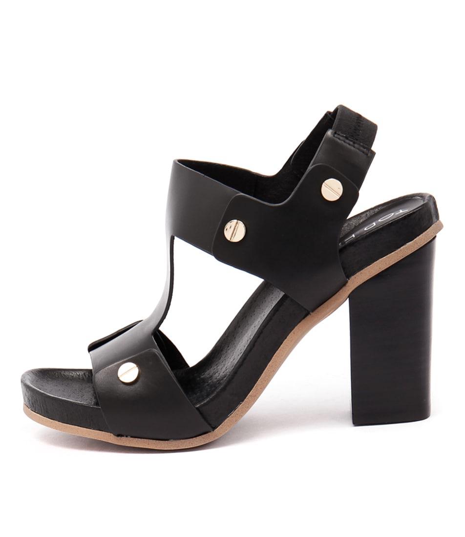 Top End Fatch Black Sandals