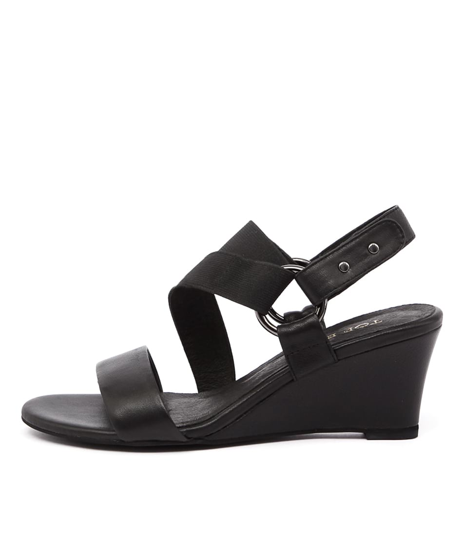 Top End Ushma Black Sandals