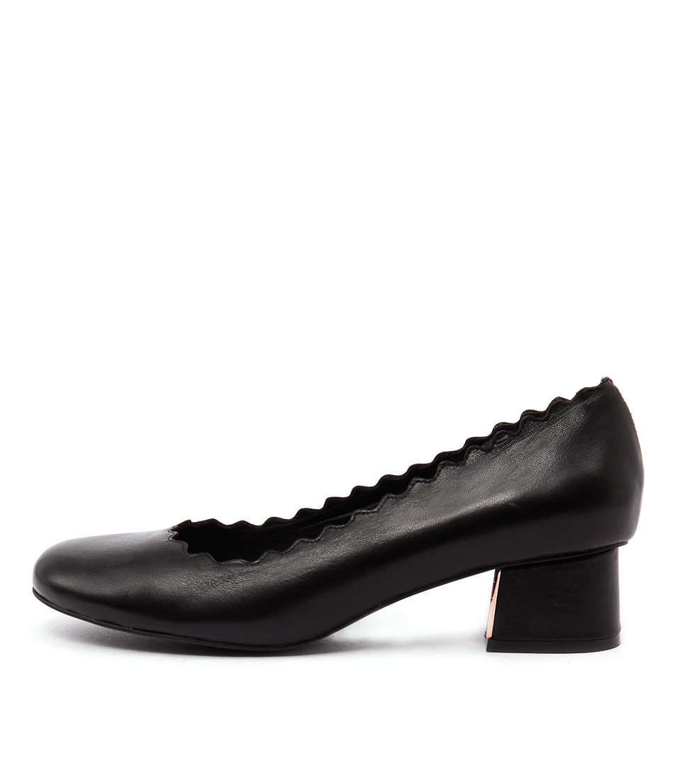 Top End Alfa Black Heeled Shoes