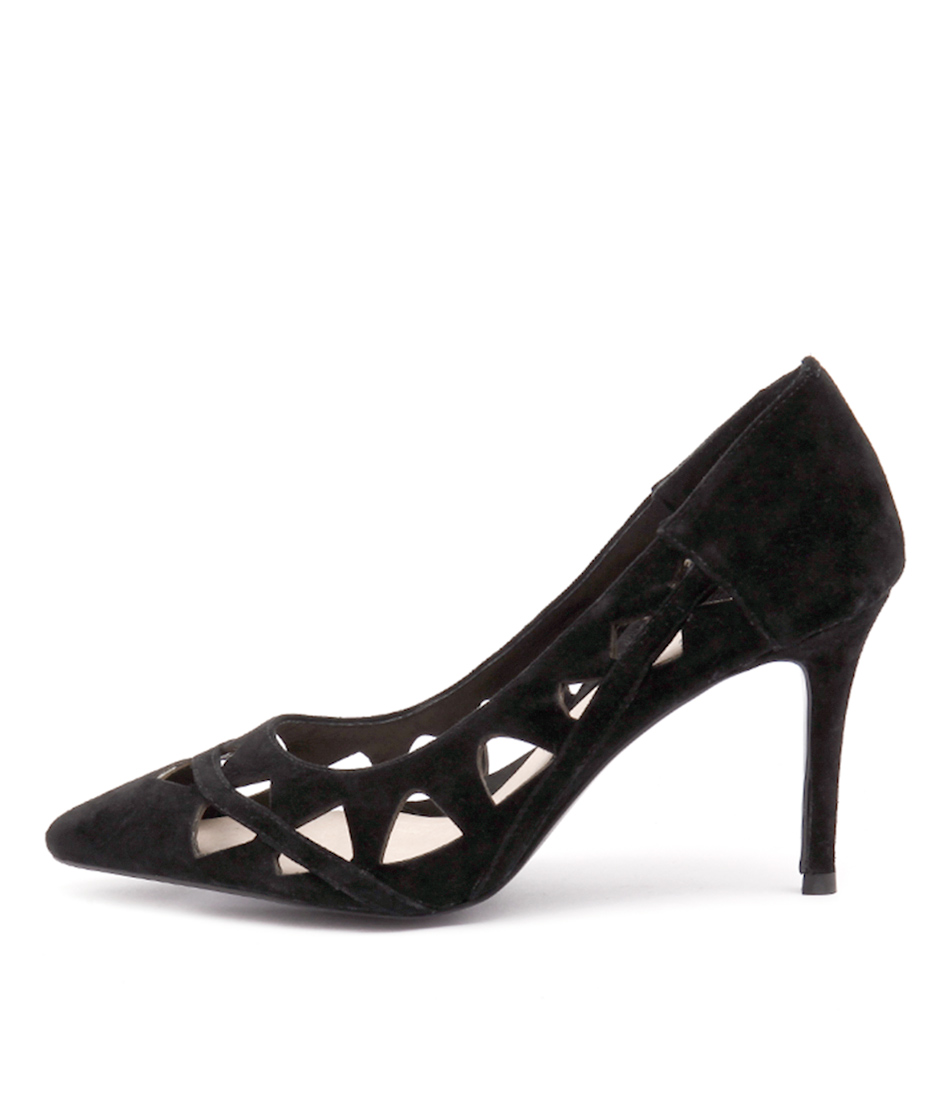 Top End Baker Black Heeled Shoes