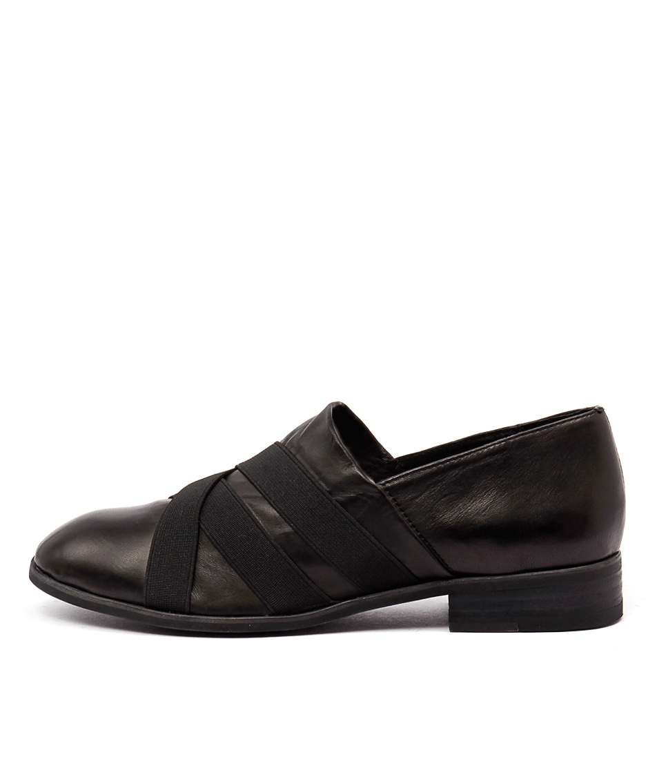 Top End Casius Black Casual Flat Shoes