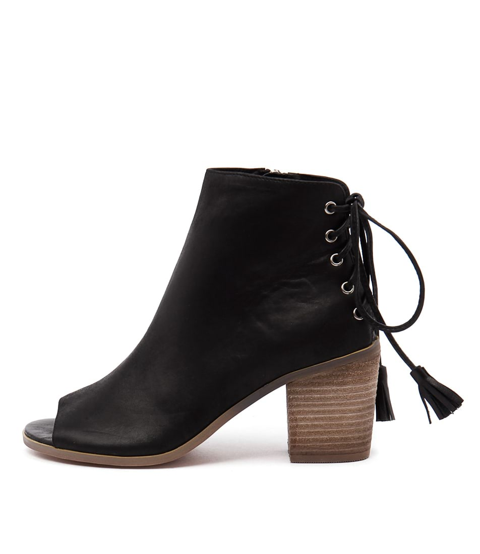 Top End Ginko Black Casual Ankle Boots