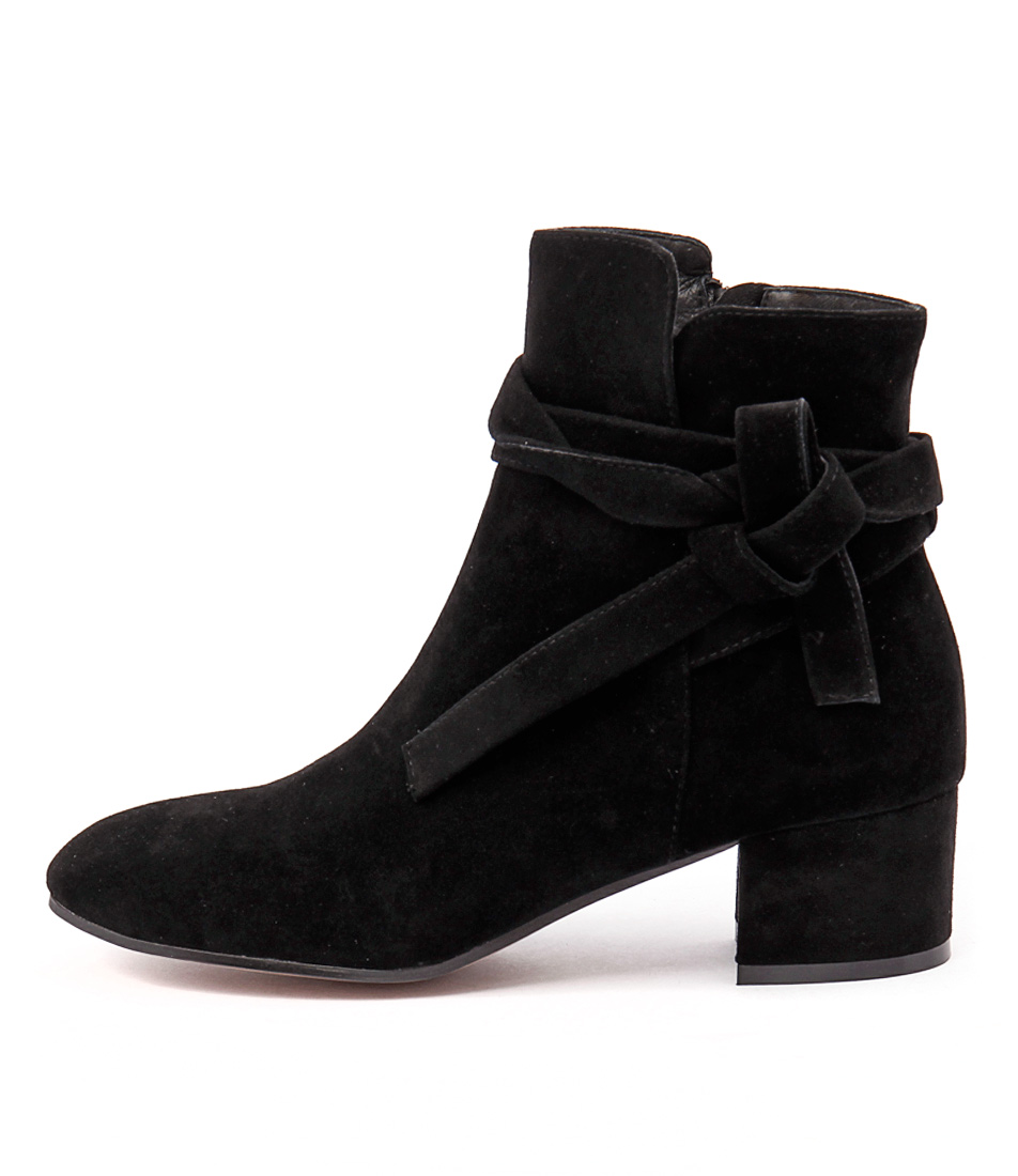 Top End Galop Black Casual Ankle Boots