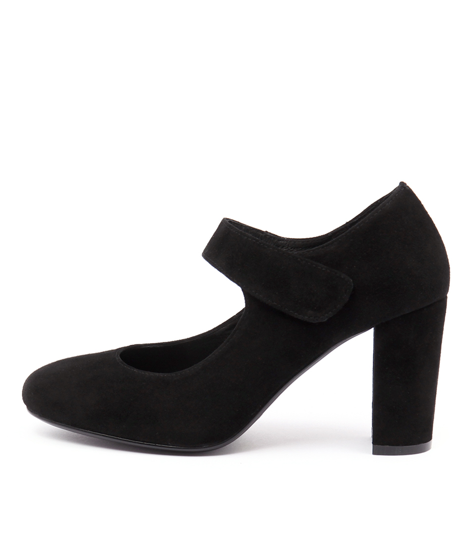 Top End Maam Black Casual Heeled Shoes