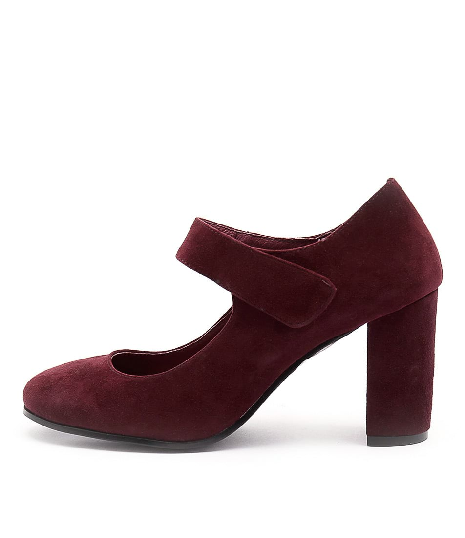 Top End Maam Burgundy Casual Heeled Shoes