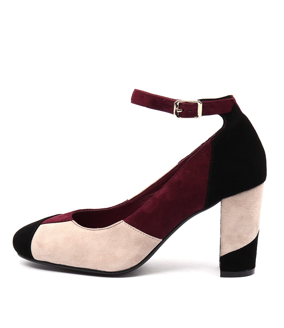 Top End Macau Burgundy Multi Casual Heeled Shoes