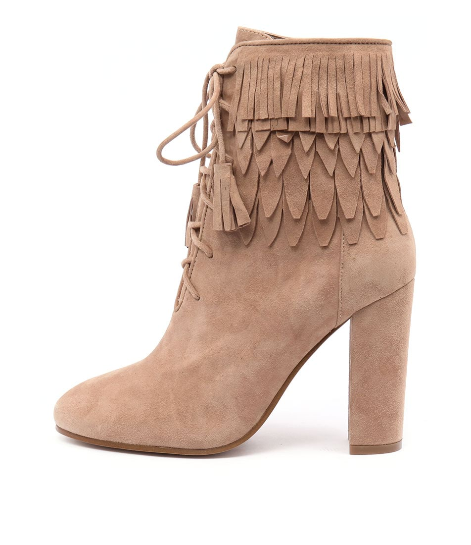 Top End Sever Beige Ankle Boots