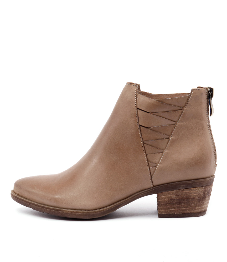 Top End Serious Taupe All Over Ankle Boots