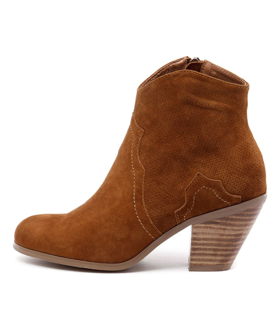 Photo of Top End Tolive Tan Ankle Boots, shop Top End ankle boots online