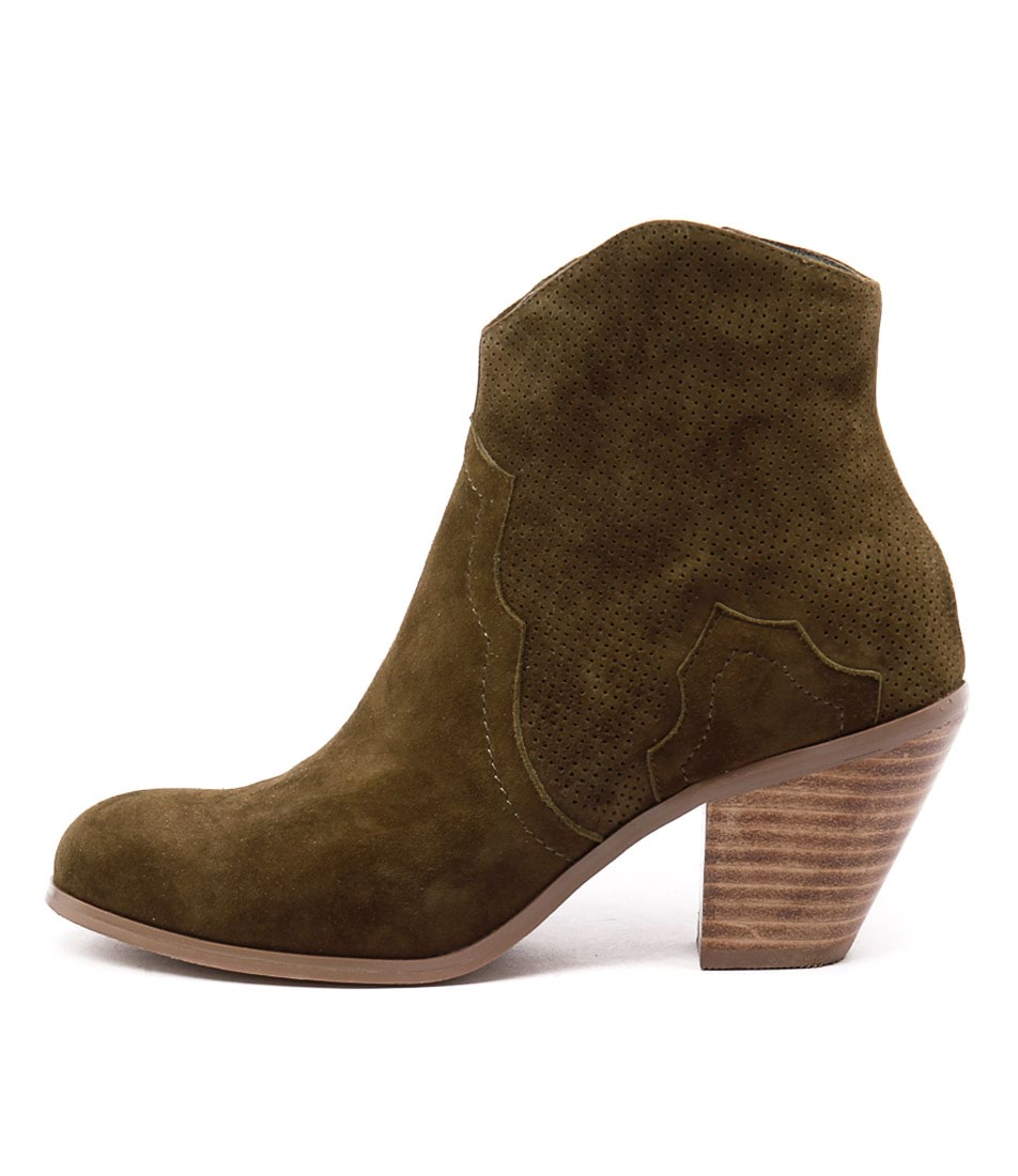 Top End Tolive Khaki Ankle Boots