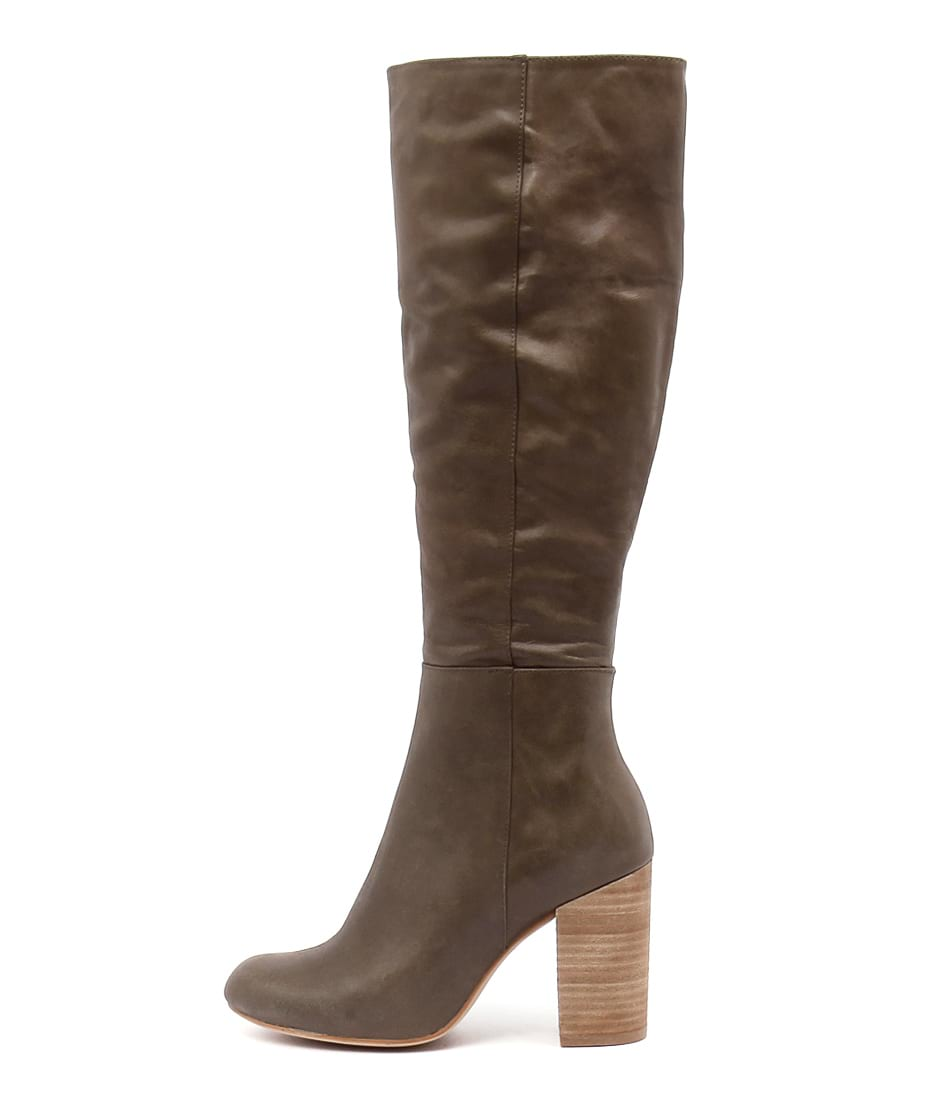 Top End Yoosay Khaki Long Boots