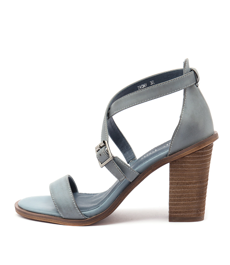 Top End Irony Denim Casual Heeled Sandals