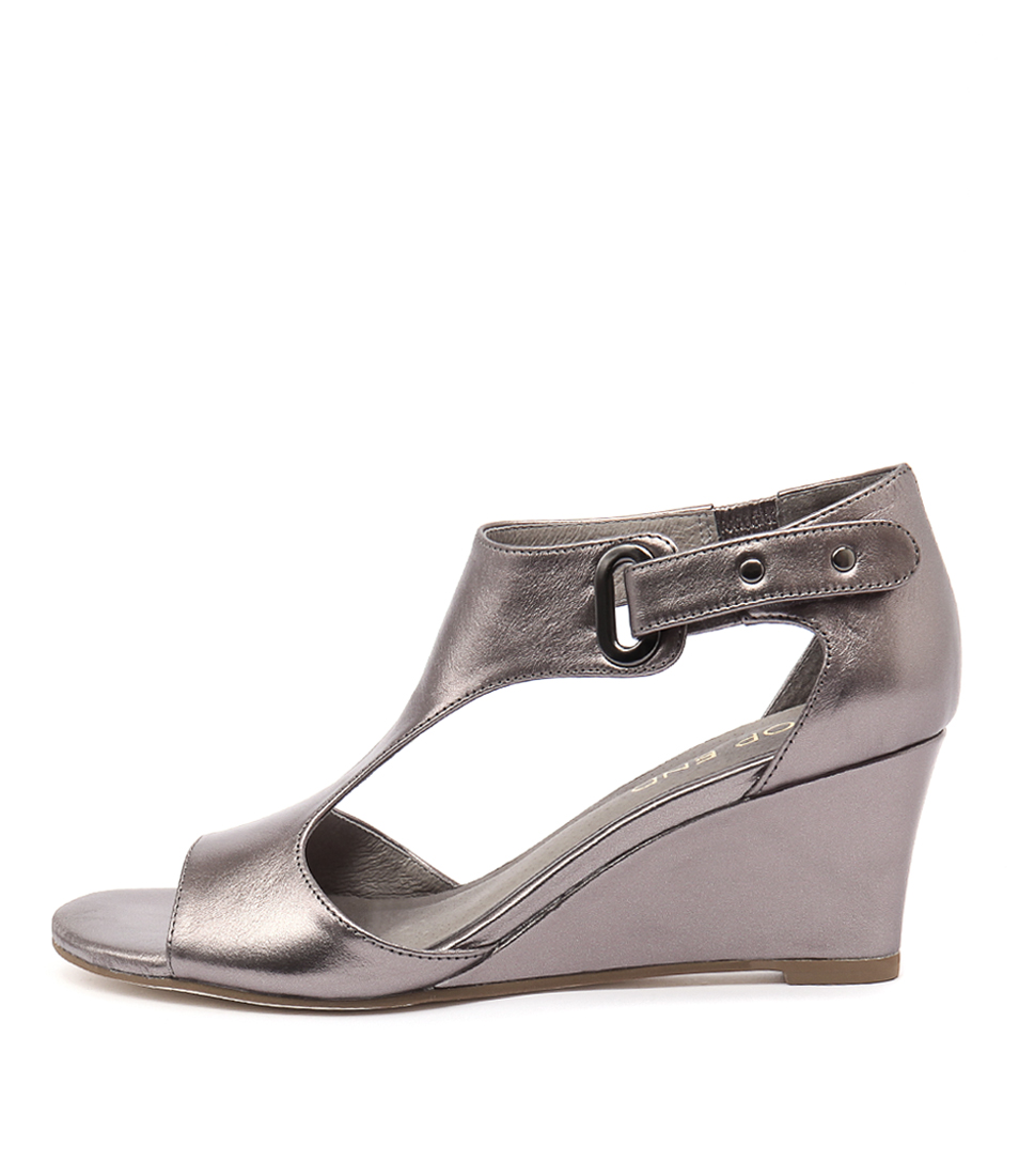 Top End Unico Pewter Dress Heeled Sandals