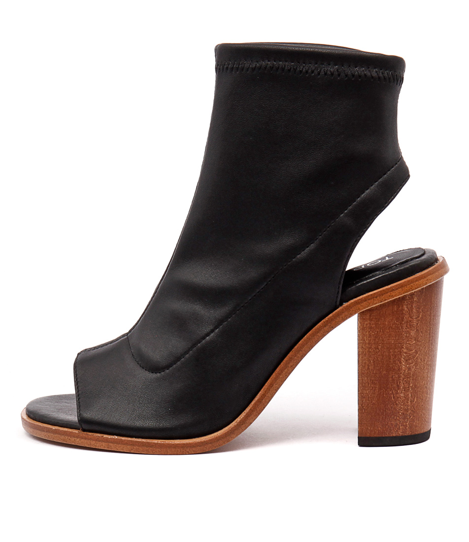 Top End Clap Black Casual Ankle Boots