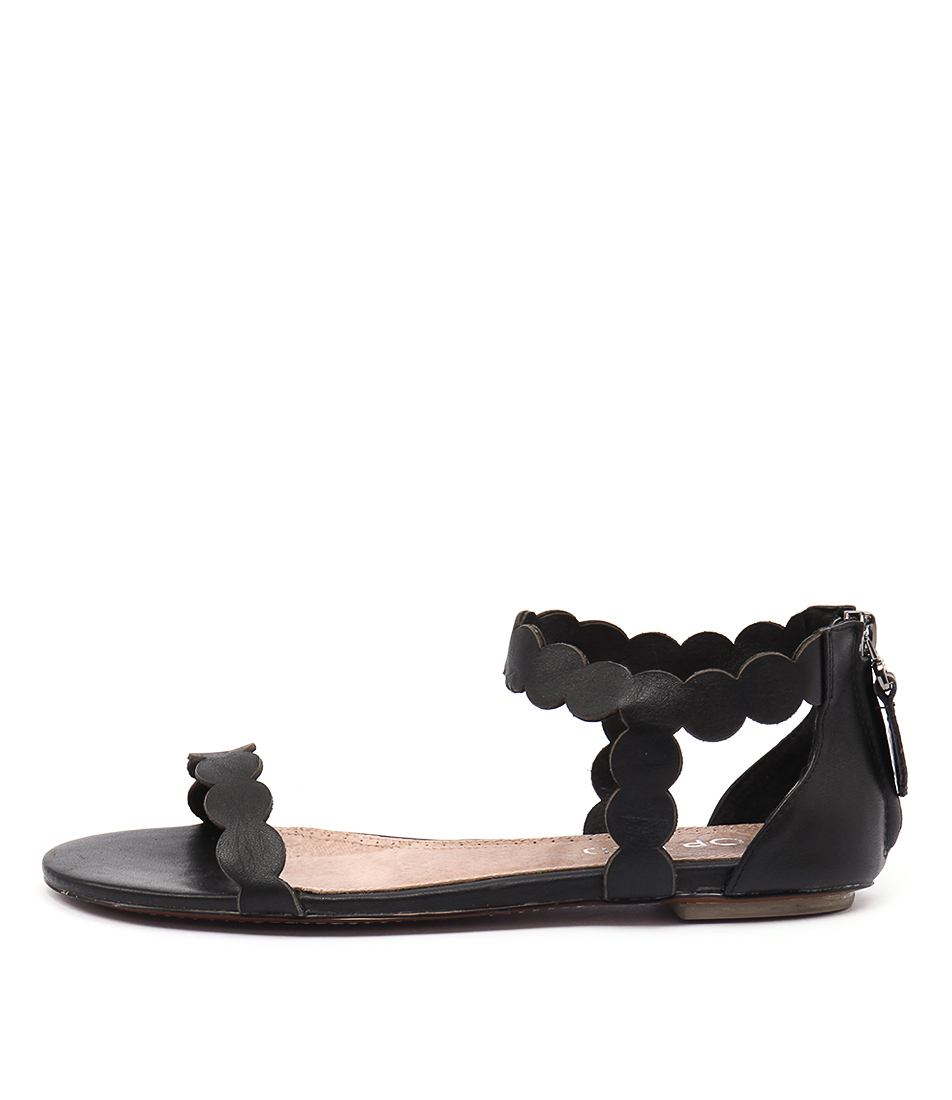Top End Plause Black Casual Flat Sandals