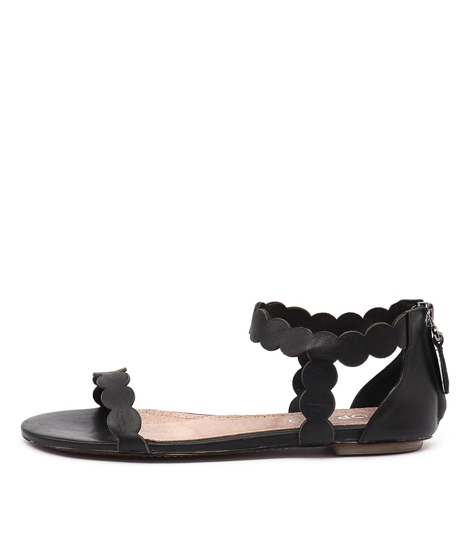 Top End Plause Black Sandals
