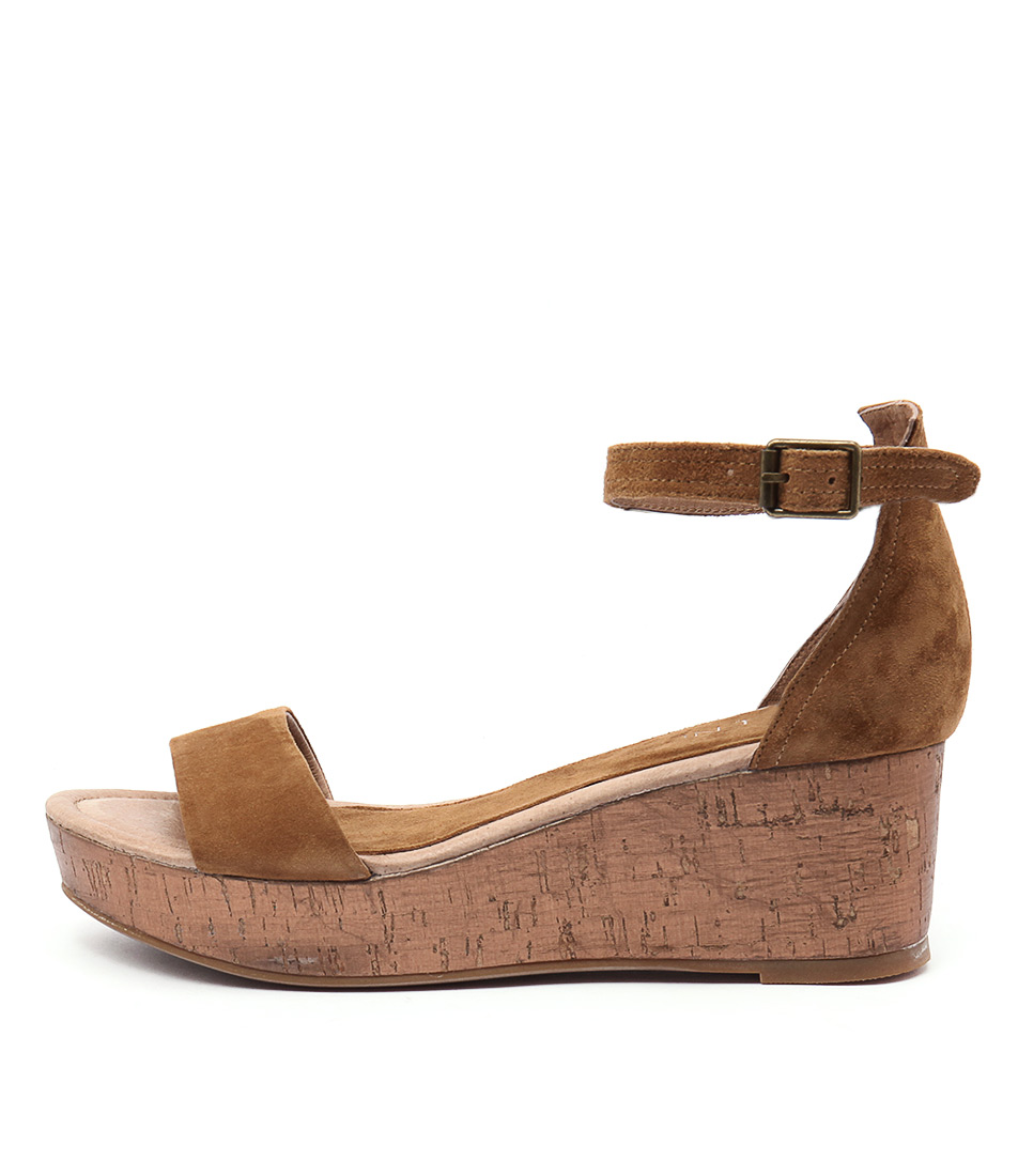Top End Sansan Tan Bronze Cork Sandals
