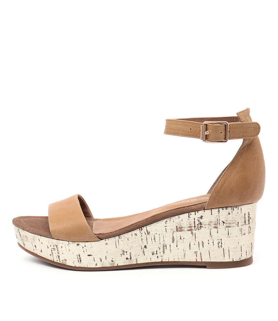 Top End Sansan Tan Blonde Cork Sandals