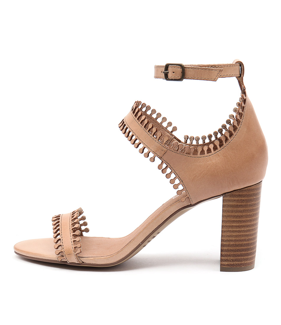 Top End Taz Tan Casual Heeled Sandals