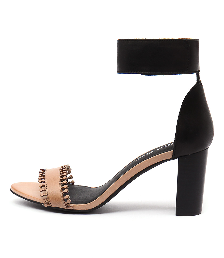 Top End Troy Tan Black Sandals