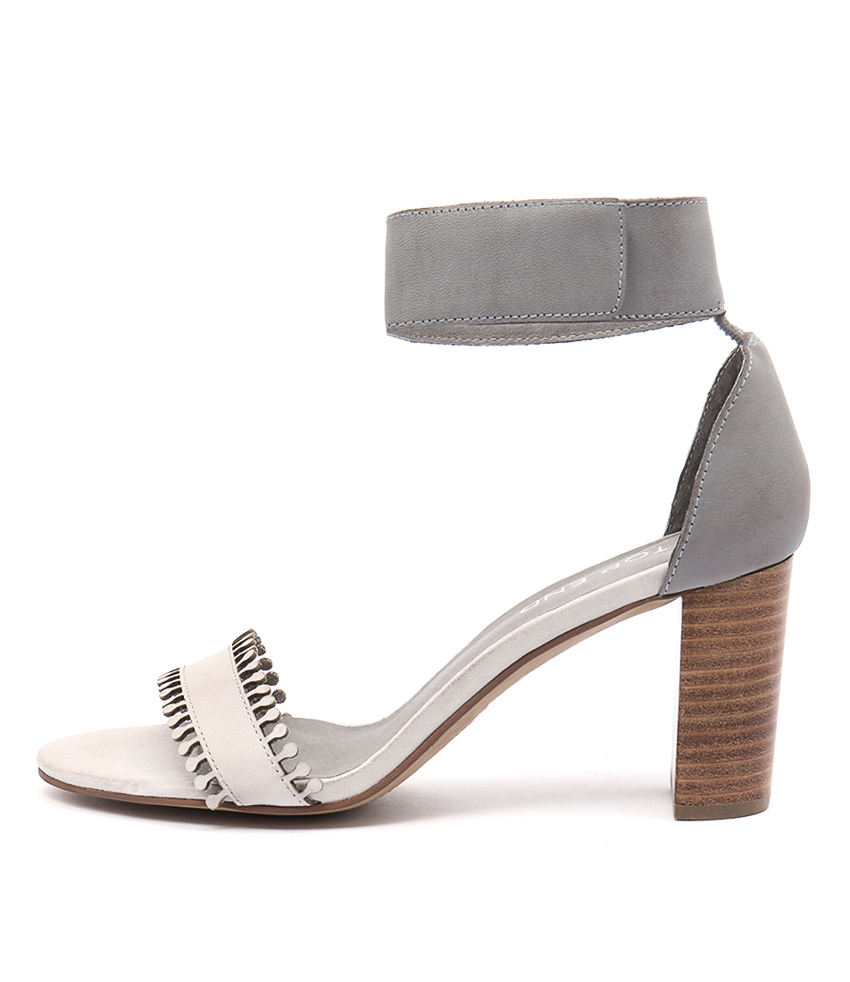 Top End Troy Misty Blue Grey Sandals