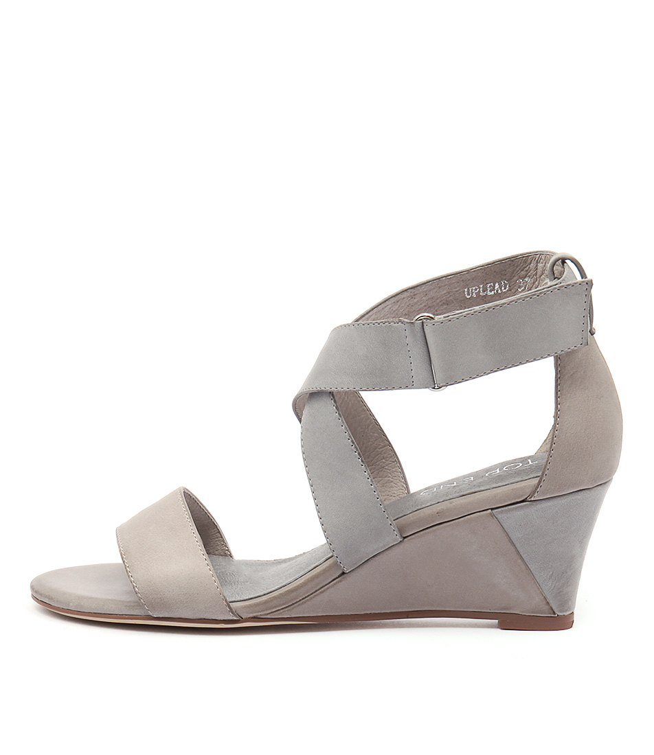 Top End Uplead Misty Blue Grey Heeled Sandals
