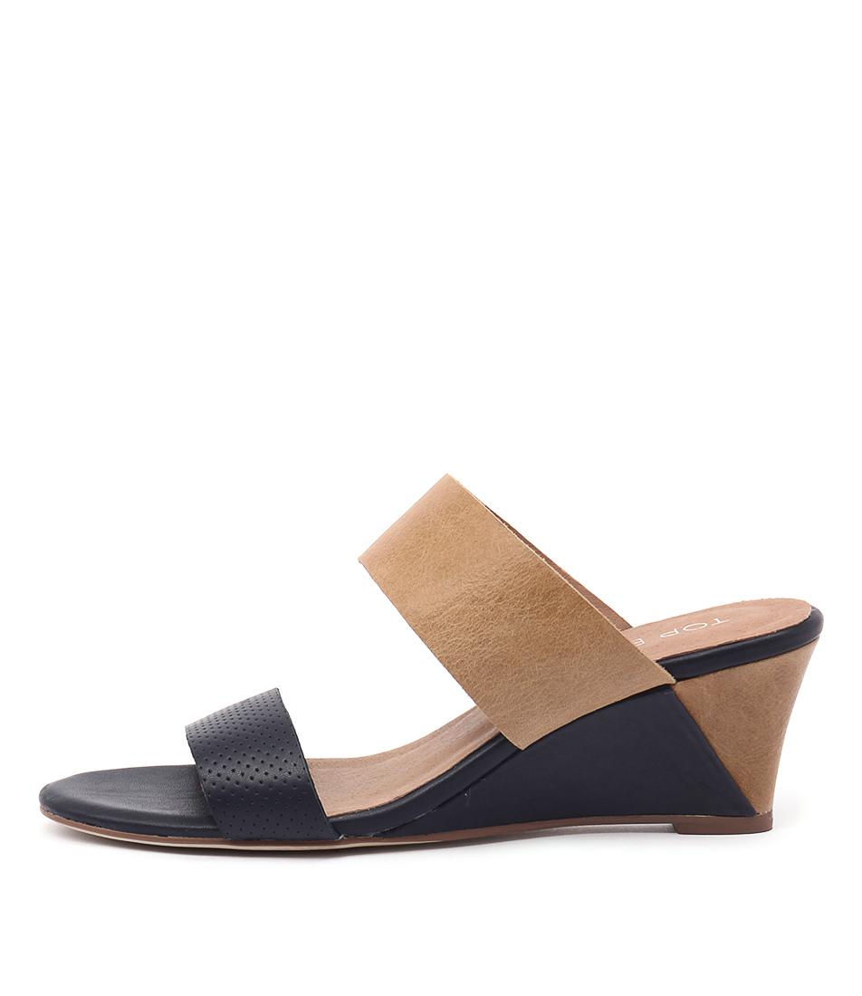 Top End Untucksy Navy Tan Sandals