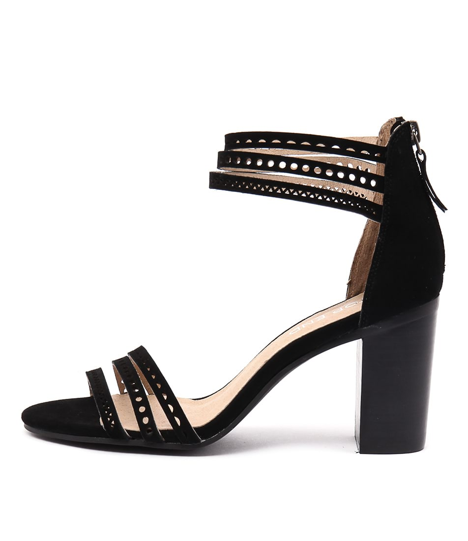 Top End Virgil Black Sandals
