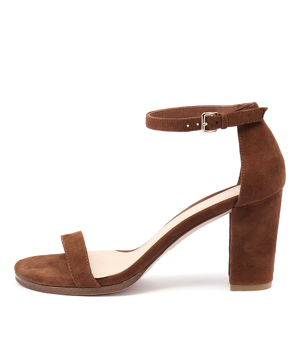 Top End Amalfi Tan Dress Heeled Sandals