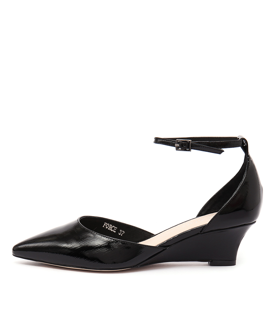 Top End Force Black Heeled Shoes