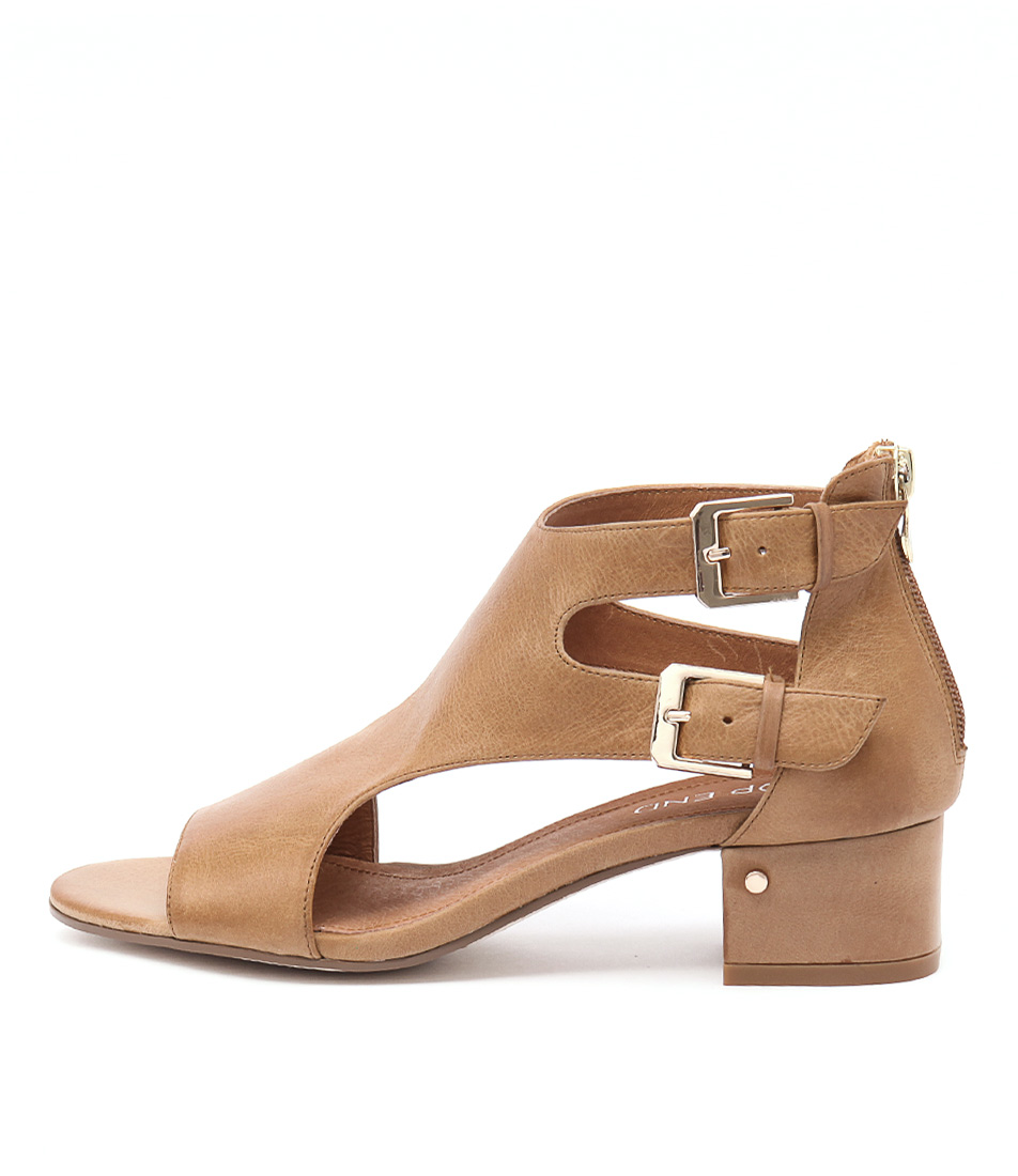 Top End Golden Tan Heeled Sandals