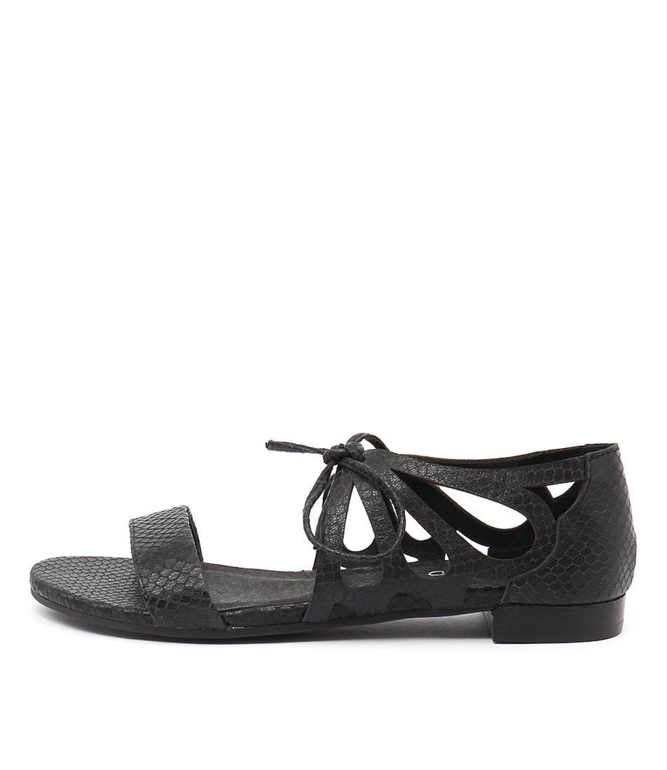 Top End Lassie Black Sandals