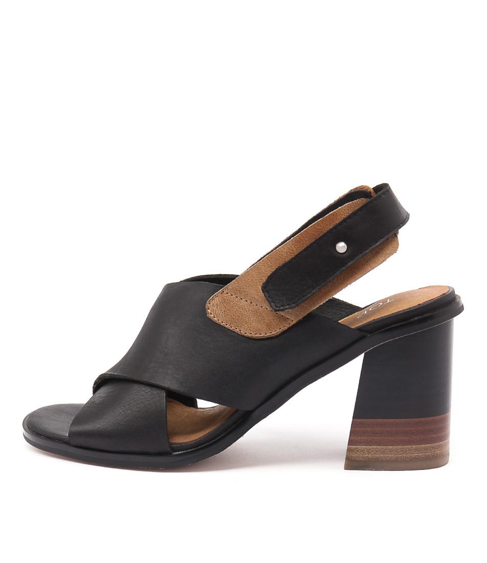 Top End Moira Black Tan Shoes