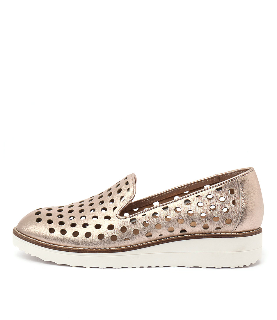 Top End Oslo Rose Gold Casual Flat Shoes