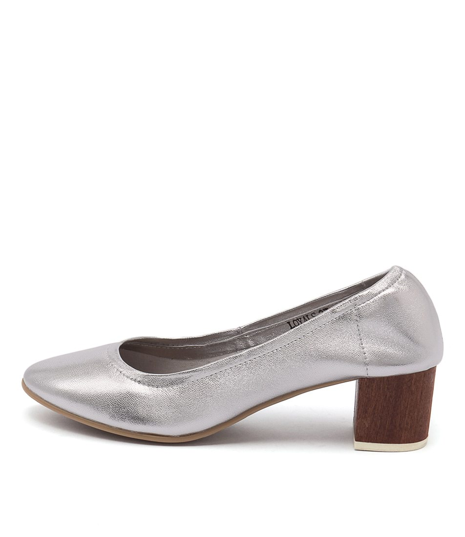 Top End Loyals Silver Casual Heeled Shoes