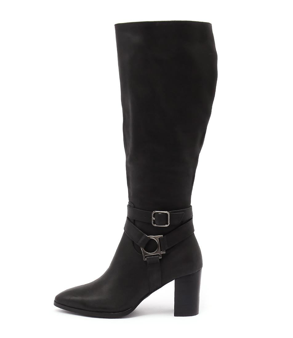 Top End Aspect Black Casual Calf Boots