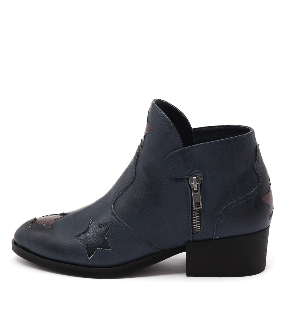 Photo of Top End Cindal Dk Navy Multi Ankle Boots, shop Top End ankle boots online