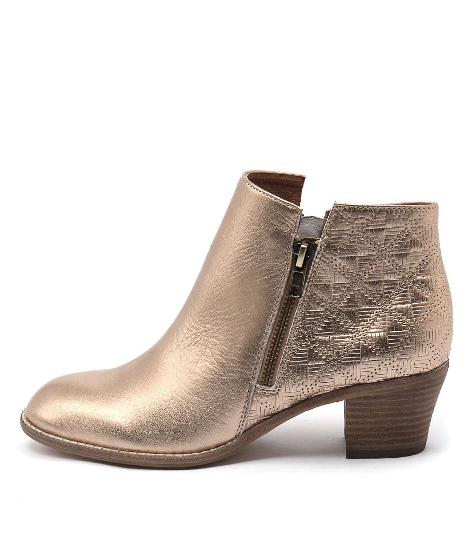 Top End Indy Rose Gold Ankle Boots