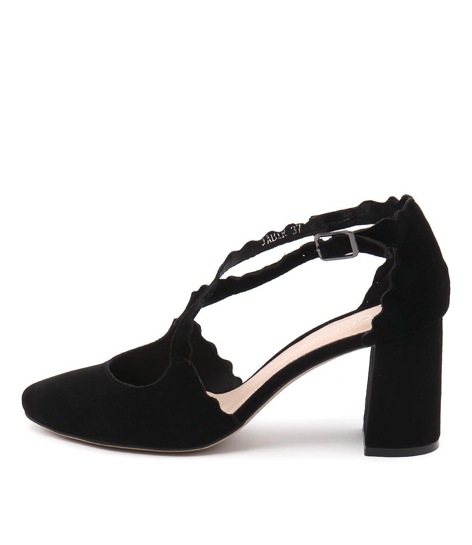 Top End Jabir Black High Heels