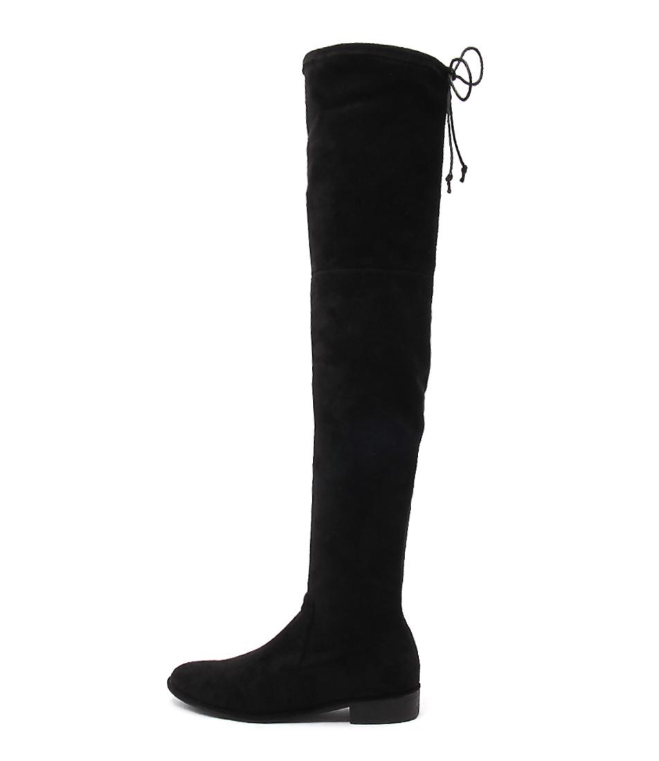Top End Leer Black Long Boots