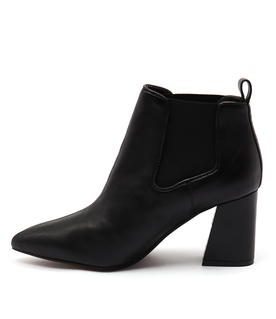 Top End Faintest Black Casual Ankle Boots