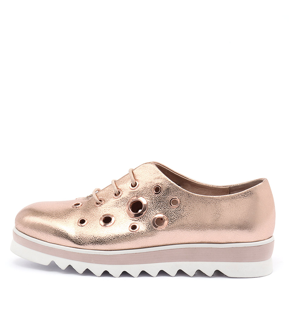 Top End Onyx Rose Gold Flat Shoes