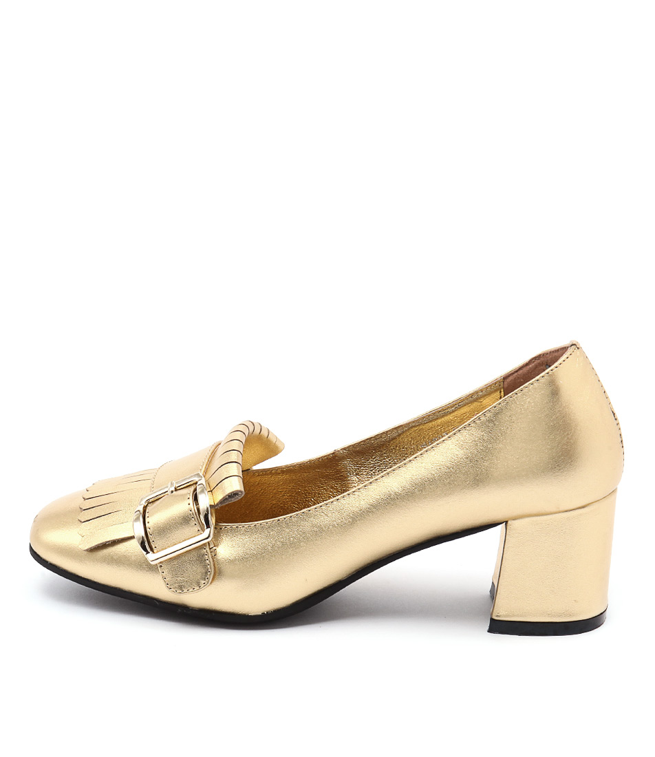 Top End Ratso Gold Heeled Shoes